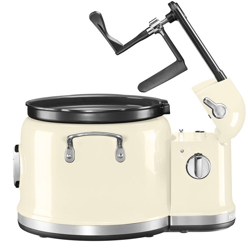 Multicooker z mieszadłem kremowy
